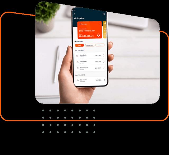 Celular con tarjeta de crédito digital